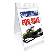 A-frame Snowmobile For Sale Sign Double Sided Graphics   24 X 36   Heavy Duty