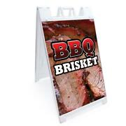 A-frame Bbq Brisket Sign With Graphics On Each Side | 24 X 36 | Heavy Duty