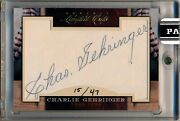2011 Donruss Limited Cuts 57 Charlie Gehringer Auto Autograph Tigers 15/47