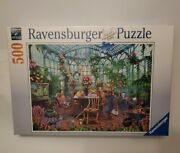 Ravensburger Greenhouse Morning 500 Pc Jigsaw Puzzle New Sealed Fast Shipping