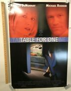 Table For One Original Movie Theater Promo Poster 1999 Michael Rooker Thriller