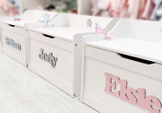 Beautiful Childrenand039s Personalised Toy Box - Free Uk Delivery