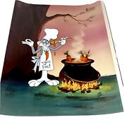 Bugs Bunny Cel Warner Brothers Rabbit Stew Signed Friz Freleng Animation Cell