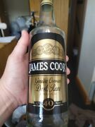 James Cook Empty Rum Bottle - Vintage Style - Crafting - Upcycling