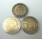 3 France Commemorative 2 Euro Coins 2010, 2011 And 2018