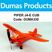 Dumas 330 Piper J4-e Cub Coupe 30 Inch Wingspan Rubber Powered - Duma330