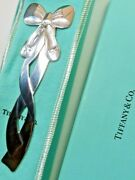 And Co. Sterling Silver Ballet Bow Ribbon Bookmark In Pouch And Box