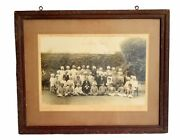 Vintage Royal Collectible Indian Men Group Photograph With Frame. I57-81 Us