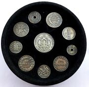 Greece Coin Set Of 10 Silver Coins - The Coins Of The Greek Nation From 1819 T65