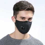 X3 Face Mask With Nose Wire Cotton Washable With Filter Pocket Air Valve Unisex