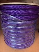 1 1/8andrdquo X 150 Ft Double Braidyacht Braid Polyester Rope. Purple. Usa Made.