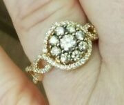Levian 14k Gold Chocolate And White Diamond Ring- Size 6 Over 1.5 Carats