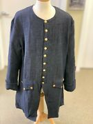 Dark Blue Jean Frock Coat - Manand039s 40+ Chest Rev War 18th Century Colonial New