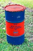 Vintage Good Gulf Oil Gear Oil Lube Drum Great Condition Local Pick Up Only