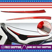 For Toyota Camry 2018-2021 Red Stainless Front Center Grill Grille Cover Trims