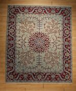 8x10 Gorgeous Unique Elegant Vegetable Dye Handmade-knotted Wool Rug 585812