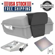 Advanblack Unpainted Chopped Tour Pack Pak Trunk Luggage For 97+ Harley Touring