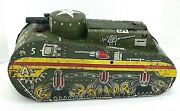 Vintage Mar Tin Toy Army Wind Up Tank Toy