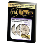 Bite Coin Us Quarter - Traditional With Extra Piece D0047 By Tango