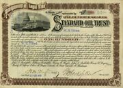 Standard Oil Trust Stock Certificate Issued To And Signed By Wesley Hunt Tilford A
