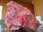 Large Natural Cherry Red Rhodonite Crystal Mineral Stone 6.8lbs 13.8ozrare Size