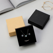 360x Rings Pendants Earrings Necklaces Cardboard Jewelry Box Square Retail Boxes