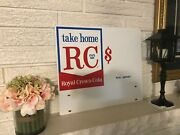 Rare Vintage Porcelain Double Sided Royal Crown Cola Rc Soda Pop Store Sign