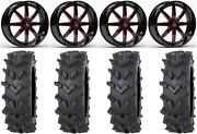 Fuel Maverick Red 20 Wheels 36 Outback Maxand039d Tires Can-am Renegade Outlander