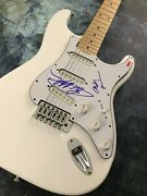 Gfa Eric Martin And Billy Mr. Big Band Signed Electric Guitar Proof M3 Coa