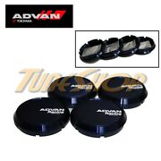 4 Advan Blue Flat Type 73mm Wheels Center Caps Rz Rs Rg Tc Rc Tc-ii Tc-iii Rt