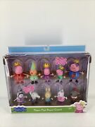 Peppa Pigand039s Royal Court 10 Figures Princess Peppa Mommy Daddy George Friends New