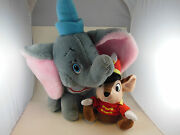 Vintage Dumbo Disney Plush 11 + 4 Inch Hat Plus Timothy Mouse Made In Korea
