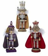 Set Of Three 10 H King Nutcrackers From Kurt Adler Hollywood Collection