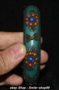 Unique China Copper Turquoise Coral Lapis Lazuli Jewelry Wristlet Bangle