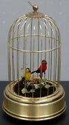Music Box Linden Wind Up Two Birds In Brass Gage With Animated Movements