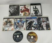 Lot Of 9 Ps3 Games Call Of Duty Black Ops2modern Warefare Madden 12