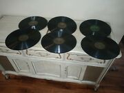 Lot Of 6 Vintage Antique Greek 12 Records Greece 78rpm Old Folk Early 1900s