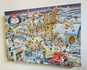 Gibsons Mike Jupp's I Love Christmas 1000 Piece Jigsaw Puzzle New Sealed