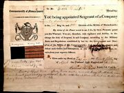 Historically Important War Of 1812 Massachusetts Militia Appointment Dated 1814