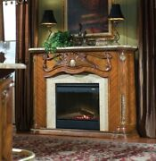 Aico By Michael Amini Cortina Decorative Fireplace With Marble Top