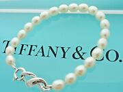 And Co. Sterling Silver Freshwater Pearls Infinity Bracelet In Pouch Box
