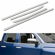 Fit 2014-2018 Chevy Silverado + Gmc Sierra 1500 Double Cab Stainless Window Sill