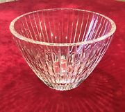 Stunning Peerage By Astral Cut Lead Crystal Hand Blown Large Bowl 9.5andrdquod X 6.25andrdquot