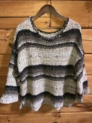 Free People Sweater - Cream/multi Color Knit - Rn 66170 - Size Small