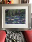 Monet Water Lilies Rolf Harris 29/595 Mint Signed Limited Edition Print Framed.