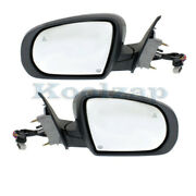 14-18 Cherokee Rear View Mirror Power Heated W/signal And Puddle Lamp Set Pair