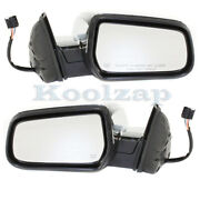 10-17 Equinox And Terrain Rear View Mirror Assembly Power Heated Chrome Set Pair