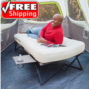 Cot Bed With Mattress Camping Pad Adult Sleeping Air Folding Guest Twin Size Kit