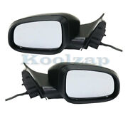 12-16 S80 Rear View Mirror Power Folding Heat W/signal And Puddle Lamp Set Pair