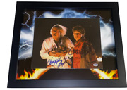 Michael J Fox Christopher Lloyd Signed 11x14 Framed Photo Back To The Future Bas